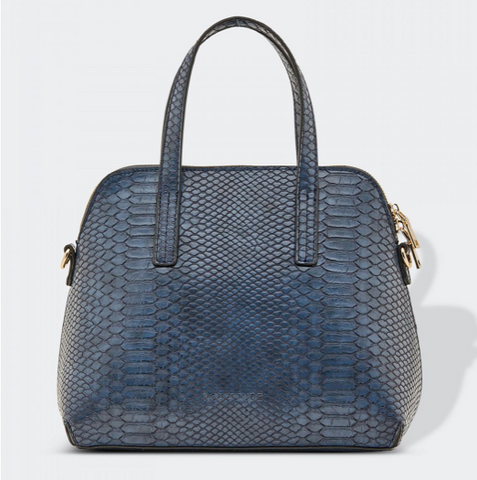 Candice Handbag, Croc Navy