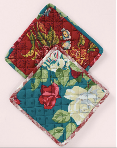 April Cornell Potholders, Jewel Patchwork