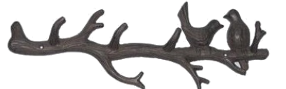 Birds on Branch Wall Hooks