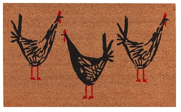 Doormat, Chicken Scratch