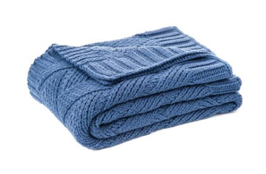 Zig Zag Throw, Blue