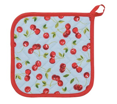 Potholder, Cherries