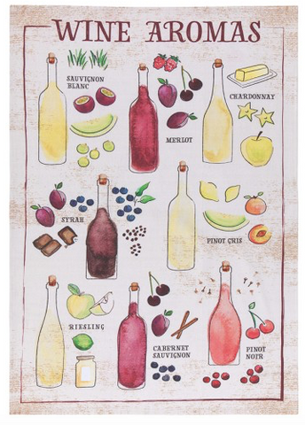 Tea Towel, Wine Aromas