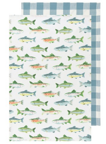 Tea Towels, Gone Fishin'