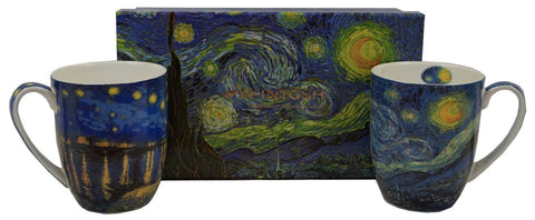 McIntosh Set of 2 Mugs- Van Gogh, Starry Nights