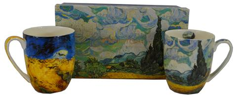 McIntosh Set of 2 Mugs- Van Gogh, Wheat Fields