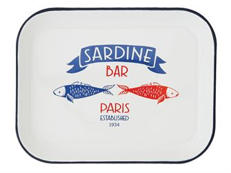 Sardine Bar Enameled Tray
