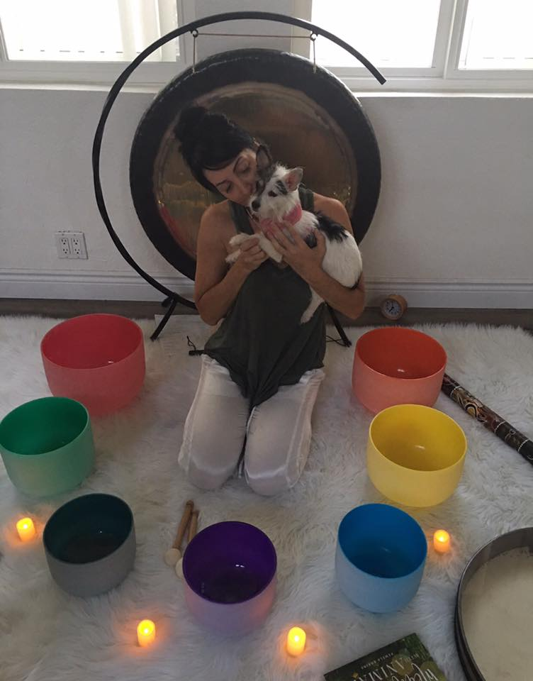 90 Minute Private Sound Bath + Healing Session for you + your animal companion