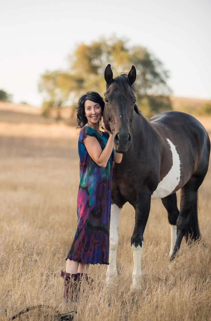 Animal Method™  Equine-Assisted Wellness Session with Pamela + Tuxedo - 90 Minutes