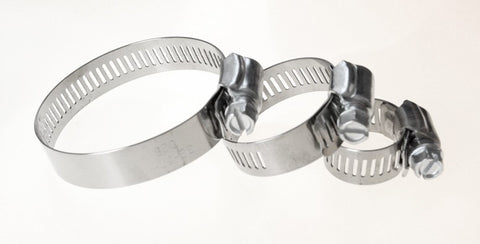 Stainless Steel Worm Clamps set of 4