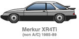 Front Mount Intercooler Kit for Merkur XR4Ti