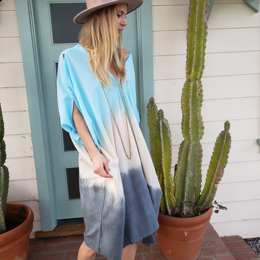 Dip Dyed Oversize Beach Coverup