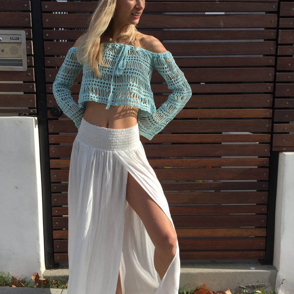 Off Shoulder Crochet Top