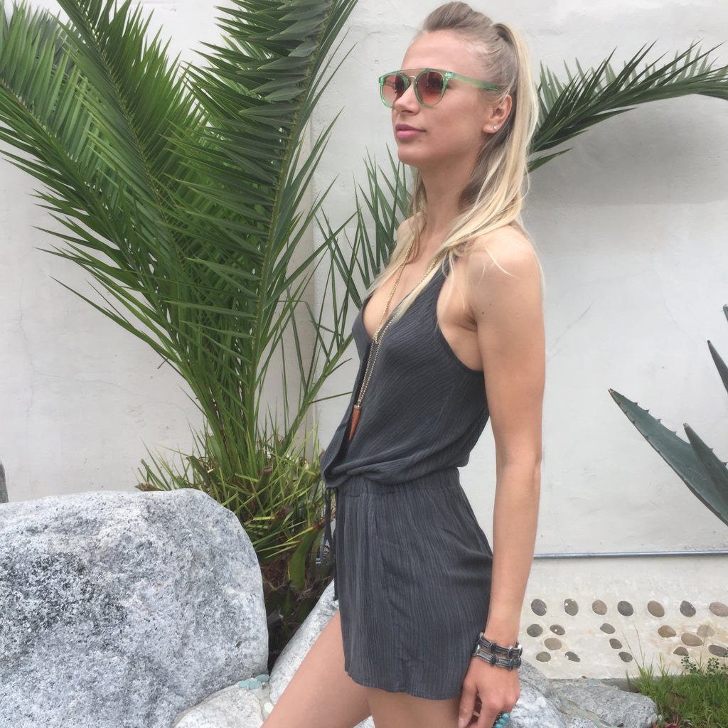 Grey Weekend Romper