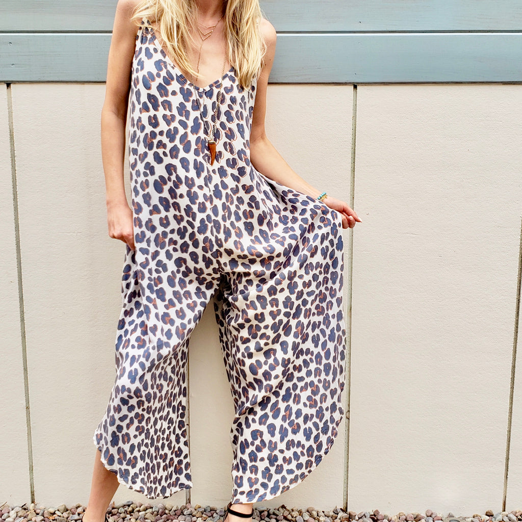 Cheetah Print Jumpsuit