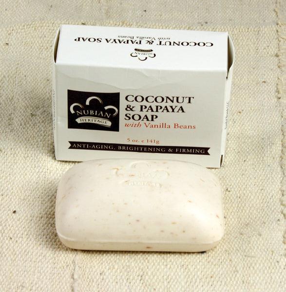 Coconut & Papaya Soap with Vanilla Beans - LACS