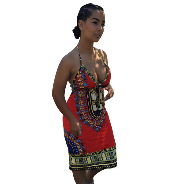 2016 Summer Design African Dashiki Sleeveless Dress - LACS