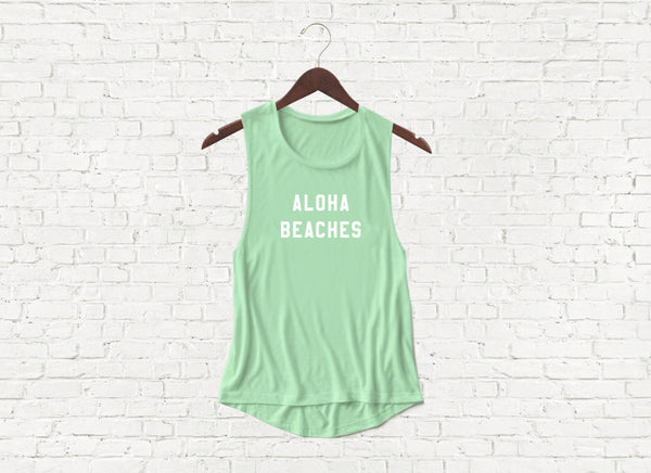 Aloha Beaches - Flowy Muscle Tank