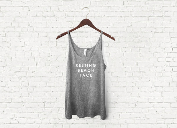 Resting Beach Face - Slouch Tank