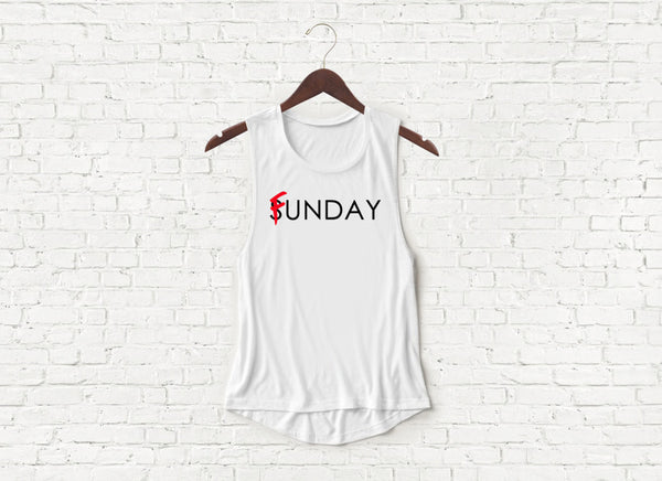 Sunday Funday - Flowy Muscle Tank