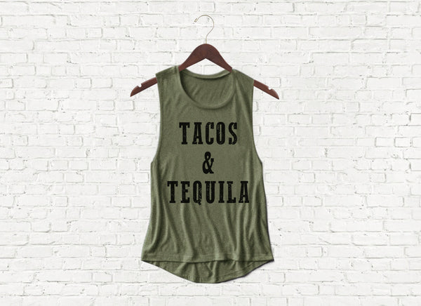 Tacos & Tequila - Flowy Muscle Tank