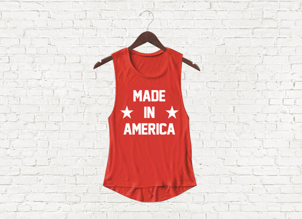 Made in America - Flowy Muscle Tank