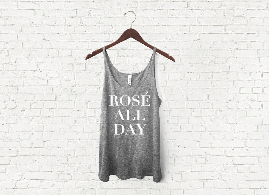 Rose All Day - Slouch Tank