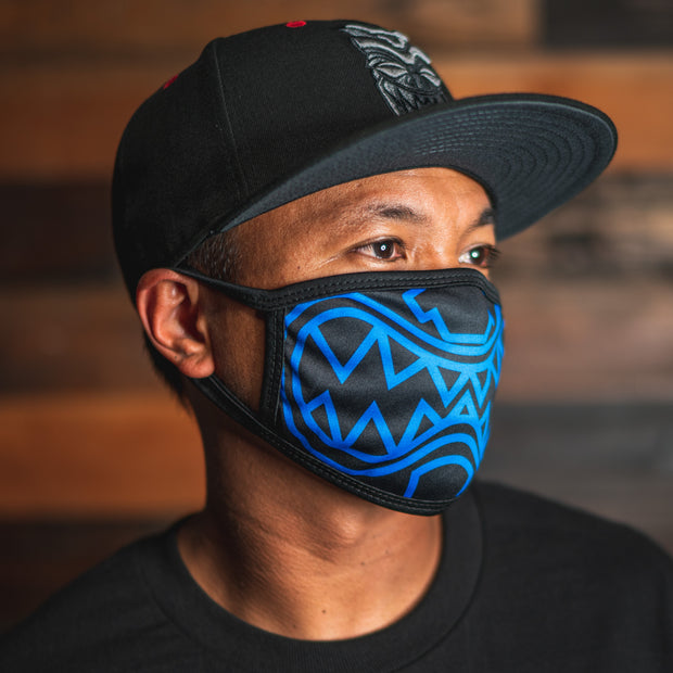 FACE MASK OG AKUA Royal Blue and Black
