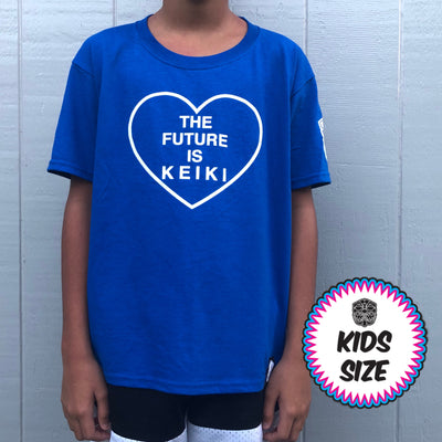 Kids FUTURE IS KEIKI blue tee