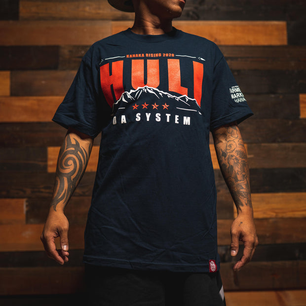 HULI THE SYSTEM navy t shirt