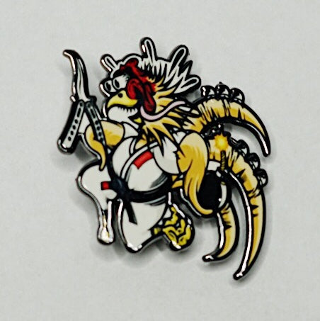 FIGHTING CHICKEN pin