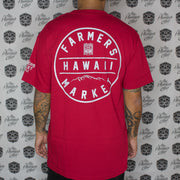 FARMERS BADGE RED T-shirt