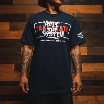FAKE STATE navy t shirt