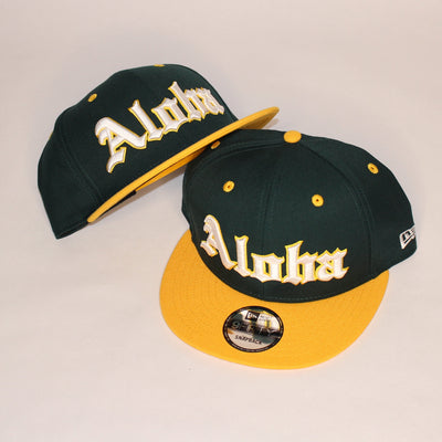 ALOHA Green and Yellow snapback