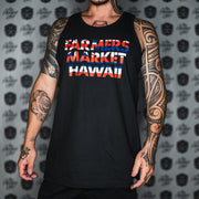 FARMERS FLAG STENCIL black tank top