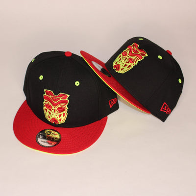 3.0 HI VIZ AND RED AKUA snapback