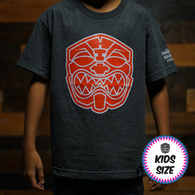 Kids Red OG AKUA gray tee