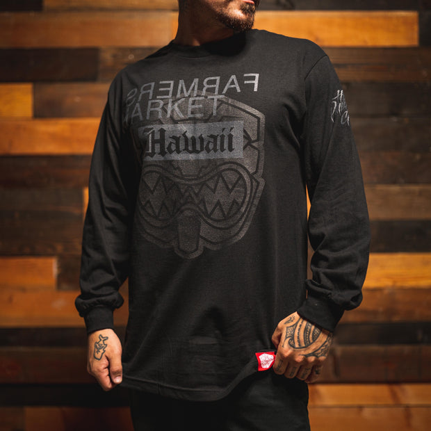 BLM MESA FARMERS LONG SLEEVE BLACK T-shirt