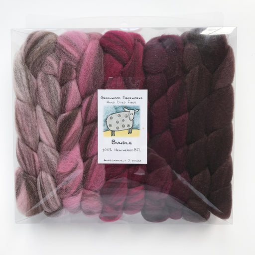 100% Heathered BFL Bundle - Knotty Lamb Yarn Shop