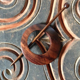 Classic Rosewood Off Center Shawl Pin