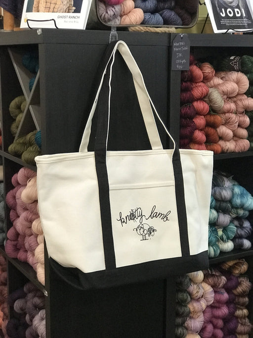 Knotty Lamb Canvas Tote - Knotty Lamb