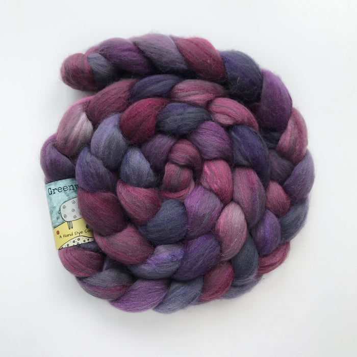 Polworth/Black Bamboo/Silk Roving - Knotty Lamb
