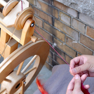 Wheel Spinning Private Lessons (2 sessions) - Knotty Lamb Yarn Shop