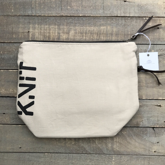Zippered Project Bag - Knotty Lamb