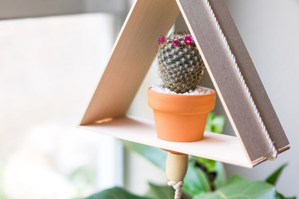 DIY | BEADED TRIANGLE PLANTER