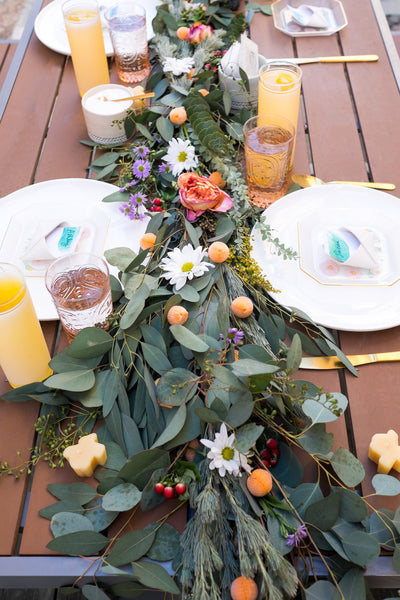 Love Ding Blog DIY Eucalyptus Table Runner with Urban Stems