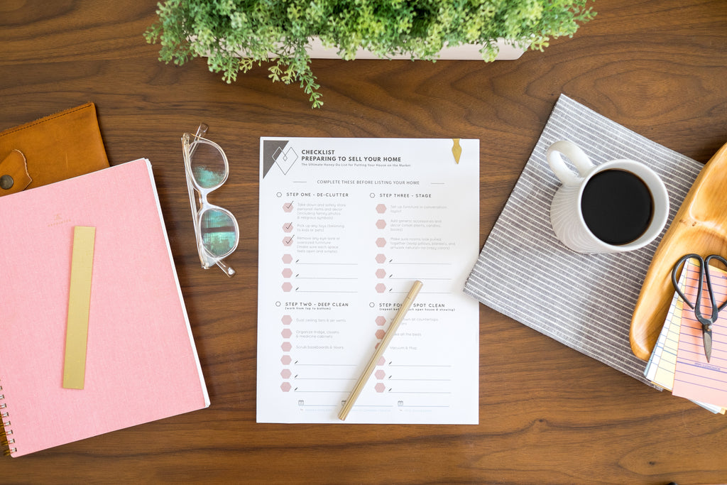 Love Ding Printable Checklist for Listing Your House on the Market