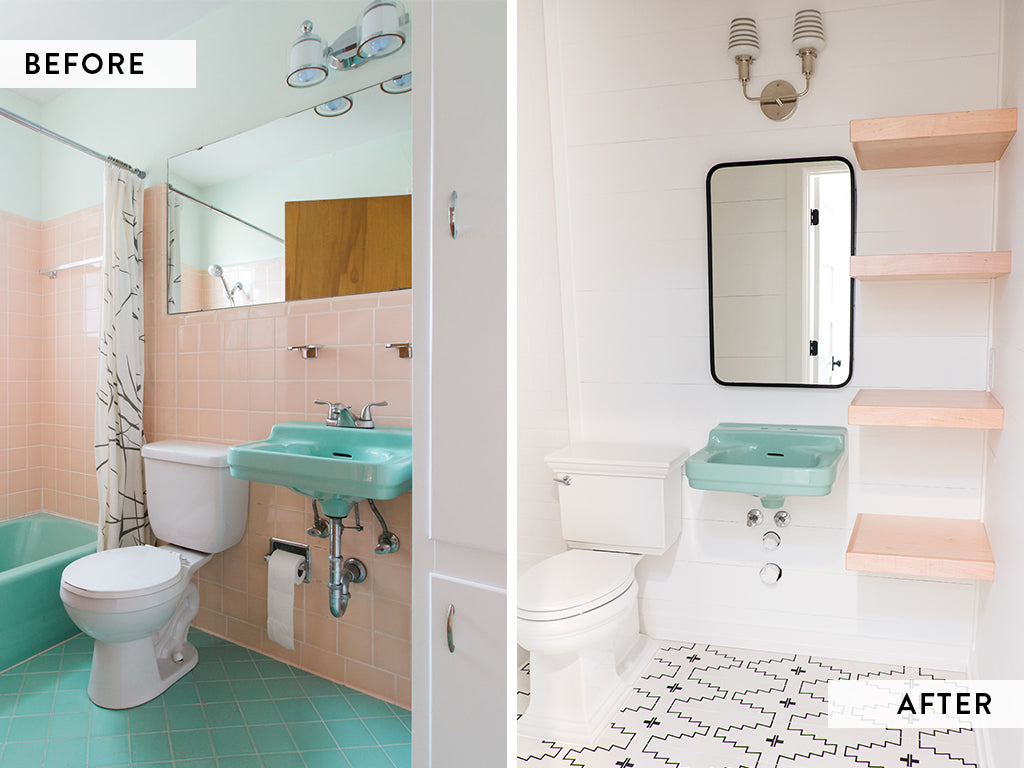 Love Ding Home Renovations Before + After Guest Bathroom