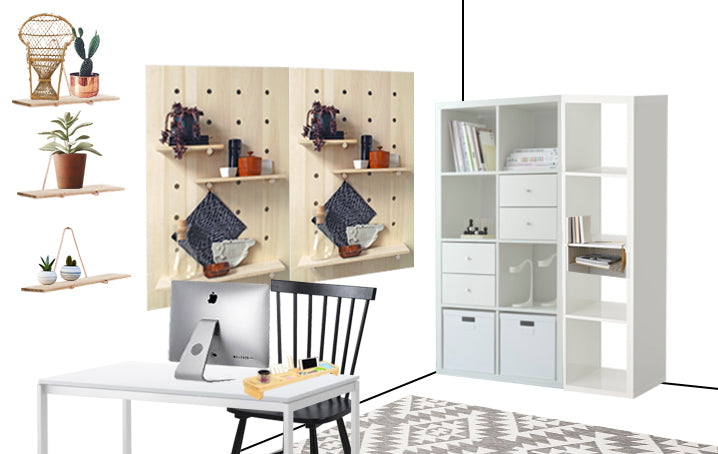Love Ding Modern Pegboard Trend for Home Office
