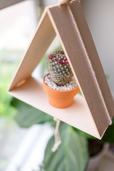 Love Ding Blog DIY Beaded Triangle Planter